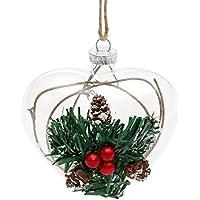 Bellissimo vetro con neve e Ilex, decorazioni da appendere, cuore - Hummel Cuore