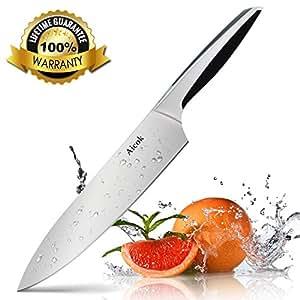 Aicok Kochmesser, Profi 20cm Küchenmesser, Chefmesser, Allzweckmesser, Gemüsemesser, Messer aus Edelstahl mit Scharfer Klinge und Ergonomischem Griff