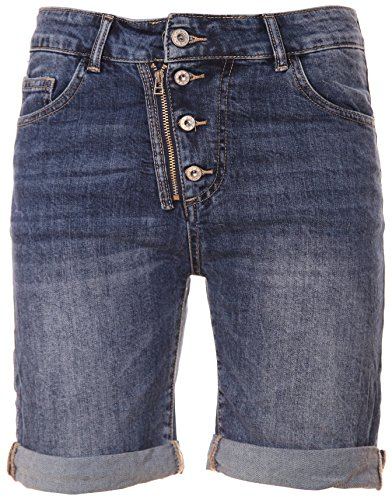 Basic.de Bermuda-Shorts 4-Knopf mit Reißverschluss Jeans L -