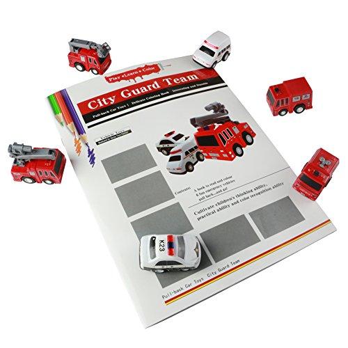 Preisvergleich Produktbild Kunststoff Spielzeugauto Pull Back and Go Mini Fahrzeug Set mit Malerei Bedienungsanleitung für 3+ Jahre alte Kinder