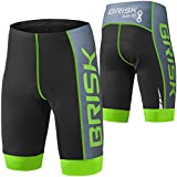 Brisk Bike Compression Cycling Pantalones Cortos Cycling Pantalones Cortos Men Compression Cycling Mallas Cycling Pantalones Cortos Padded Cycling Pantalones Cortos Women Cycling Pantalones Cortos with Pad Pantalones Cortos Cycling Bike Brand Pantalones de compresión Pantalones Cortos for ciclismo Hiking Summer Compression Cycling Compression Mallas de compresión Pantalones Cortos De Ciclismo Women 's Bike Athletic Wear Compression Pantalones Cortos De Ciclismo for lymphedema Bike Pantalones de compresión, color Green Black, tamaño large
