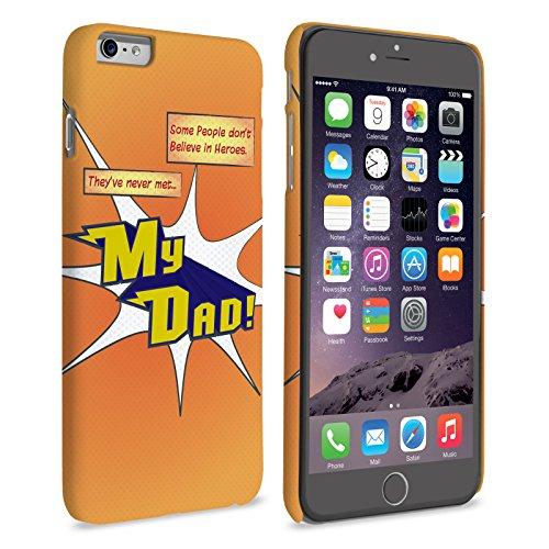 Caseflex iPhone 6 / 6S Plus Coque Rigide Orange Dessin Animé Mon Papa Le Héro