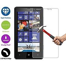 Para Nokia Lumia 820 Protector de Pantalla ZeWoo® Cristal Vidrio Templado Premium (9H *2.5D, 0,33mm)