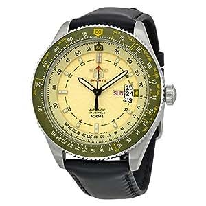 Seiko - SRP615K1 - 5 Sports - Montre Homme - Automatique Analogique - Cadran Jaune - Bracelet Cuir Noir