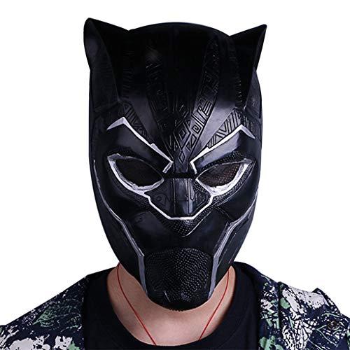 Marvel Legends Serie Black Panther Helm Maske - Perfekt für Karneval und Halloween - Kostüm für Erwachsene - Latex, Unisex,Black Panther-55~62cm