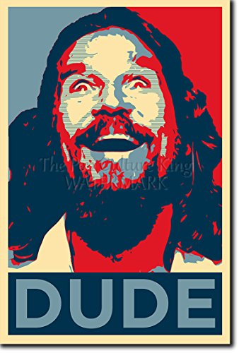 Dude Art: Stampa artistica (Parodia di Obama Hope). Poster Fotografico Idea Regalo 30x20cm Cartellone The Big Lebowski Jeff Bridges