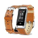 Fuibo Smartwatch, Y2 Farbe Bildschirm Blutdruck / Herzfrequenz Armband Smart Watch Armband Sport | Intelligente Armbanduhr Sport Fitness Tracker Armband (Braun)