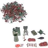 238pcs Juguetes Juegos Combate Ejército Soldado Cremallera Mochila 4cm