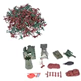 MagiDeal Army Combat Game Toys Soldier Set with Zipper Backpack 3cm Set of 238 - MagiDeal - amazon.co.uk