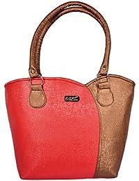 The Golden City Designer Red & Golden Handbag