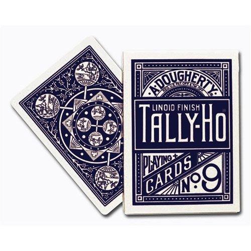 Carte tally-ho fan back blu
