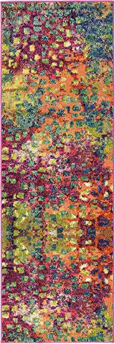 Modern Abstract Barcelona zona-Tappeto, stile contemporaneo, Polipropilene, mehrfarbig, 2 x 6