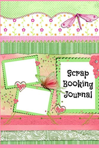 Scrap Booking Journal: Cute pink and green scrapbooking journal with lined pages in a handy small size. Great for ideas, paper samples and sourcing.