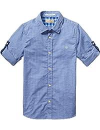 Scotch Shrunk Jungen Hemd Basic Shirt in Mini Checks