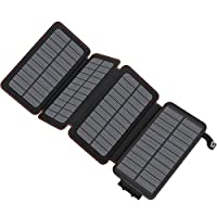 ADDTOP Solar Charger 25000mAh High Capacity Portable Power Bank Waterproof External Battery Pack 9
