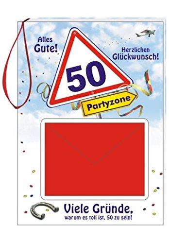 Geburtstags-Geld-Büchlein zum 50: Alles Gute! Herzlichen Glückwunsch