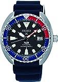 Seiko Herren Analog Automatik Uhr mit Silikon Armband SRPC41K1