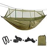 ATLES Hamac confortable - 2 personnes en hamac à haute résistance en parachute avec...
