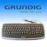 Grundig 72845 Tastatur (QWERTY, USB) schwarz