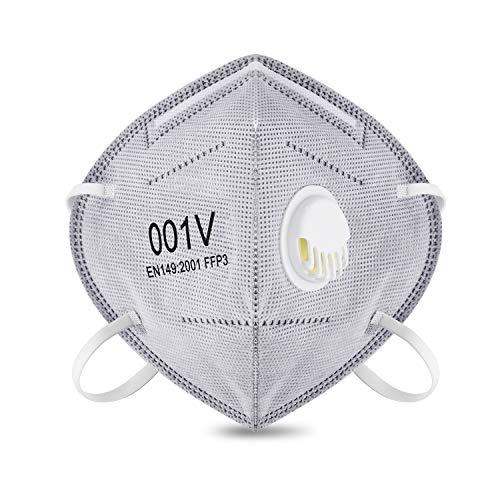 Atemschutz Masken, 10 STK Einweg Staub-Maske von, Atemschutz gegen Partikel, Feinstaub & Pilzsporen, Atemmaske mit zuverlässigem Schutz, leichtes Atmen und optimalem Sitz NIOSH-Zertifiziert