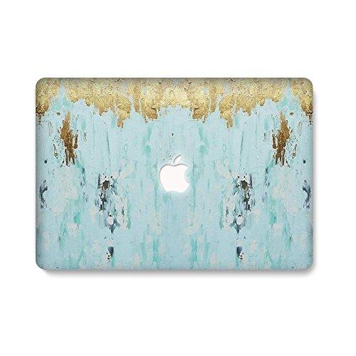 AQYLQ MacBook Schutzhülle/Hard Case Cover Laptop Hülle [Für MacBook Air 13 Zoll: A1369/A1466] - Ultradünne Plastik Matt Gummierte Hartschale Schutzhülle, DL 46-Alter Blauer Marmor