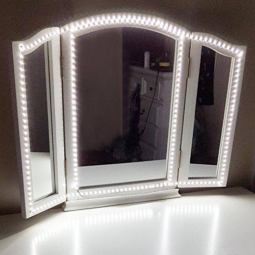 Led Spiegelleuchte,Led Eitelkeits Licht Streifen 4M/13Ft 6000K Tageslicht Dimmbar für Schminkspiegel.Make-up Licht,Schminklicht,Spiegel Nicht Inbegriffen (Make-up-spiegel Licht,)