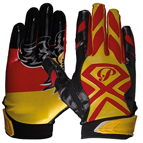 Prostyle Gator Football Gloves American Football Receiver Handschuhe - Team Deutschland Gr. L