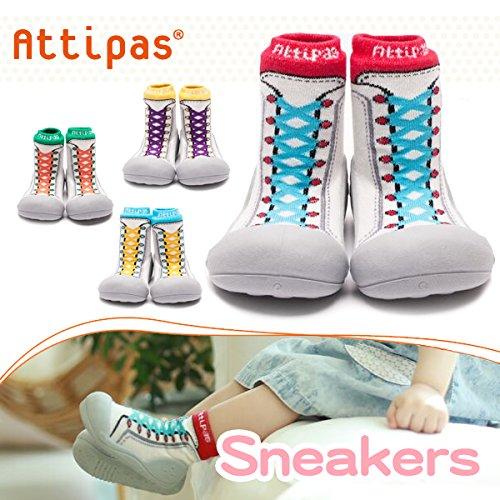 Attipas New Sneakers Blue - ergonomische Baby Lauflernschuhe, atmungsaktive Kinder Hausschuhe ABS Socken Babyschuhe Antirutsch 24