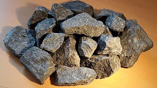 25 kg Deutsche Aufguss Saunasteine (Vergleichspreis 15,95 Euro bei 20 kg) Basalt 8 -15 cm - Sauna Steine - LIEFERUNG KOSTENLOS (Stein Kg 20)