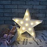 Estrella LED Iluminación infantil nocturna Luces nocturnas Luces de estado de ánimo Lámparas Enfermería Cuarto del bebé Decoración Luces de escritorio (Blanco)