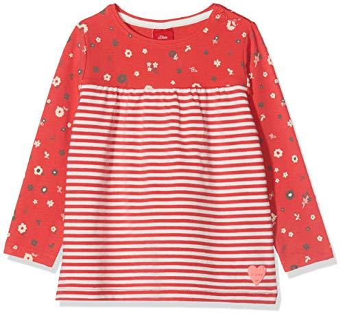 s.Oliver Baby-Mädchen 65.908.31.8820 Langarmshirt, Rot (Red Knitted Stripes 34g4), Herstellergröße: 80 -