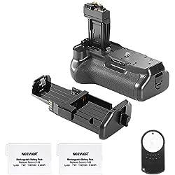 Neewer Battery Poignée de remplacement BG-E8 pour Canon 550D / 600D / 650D / 700D Rebel T2i / T3i / T4i / T5i + 2 * Remplacement télécommande rechargeable 7.4V 1140mAh LP-E8 Batterie + infrarouge