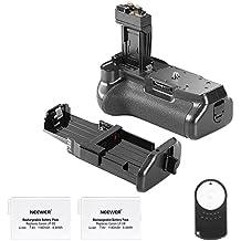 Neewer - Reemplazo de Empuñadura de Batería BG-E8 para Canon 550D/600D/650D/700D Rebel T2i/T3i/T4i/T5i + 2 Reemplazos de Baterías recargables 7,4 V, 1500mAh LP-E8 + Control Remoto por Infrarrojos