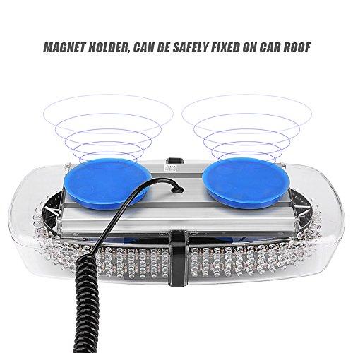 7 Modos Linterna de Advertencia de Emergencia del techo del Coche KIMISS 240 LED Luz estrobosc/ópica Azul