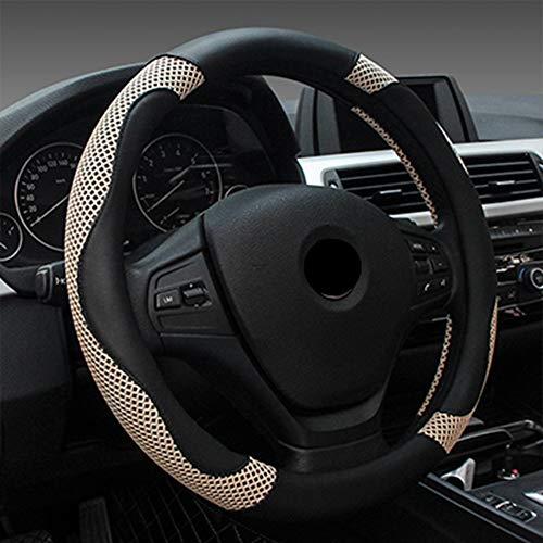 Preisvergleich Produktbild ANNIGI Sommer Auto Lenkradbezug 38 cm Mode Radabdeckungen für Frauen Dame Leder Lenkrad Autoinnenausstattung