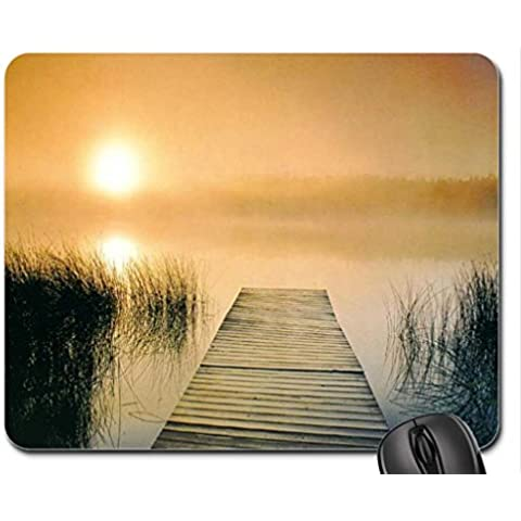 Over the Lake Mist-Mouse Pad, tappetino per Mouse, Laghi Mouse Pad)