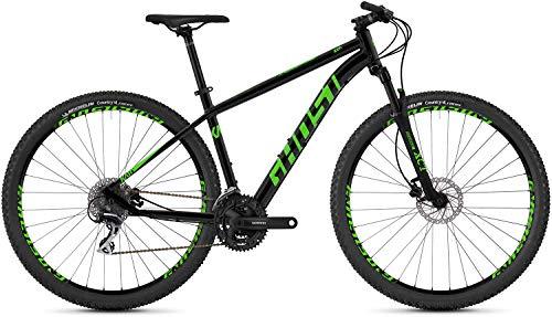 Ghost Kato 2.9 AL U 29R Mountain Bike 2019 (XL/54cm, Night Black/Riot Green) (Ghost Fahrrad)
