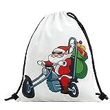 Subfamily® Christmas Candy Geschenktasche Bundle Pocket Santa Claus Snowman gedruckten Rucksack Weihnachten Drawstring Tasche bequem, tragbar und praktisch Polyester (D)