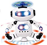 Toykart Dancing Robot with 3D Lights and Music, Multi Color
