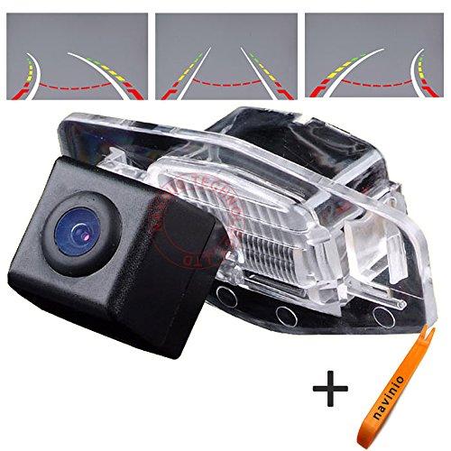 Navinio 170 ° Visualización Invertir la pista línea de la cámara de la regla con el volante en movimiento trasero copia de seguridad de la cámara de visión nocturna HD CCD para Sony CCD Auto Honda Accord Pilot Civic EK FD Odyssey CRV CAR