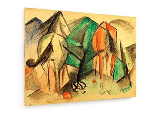 franz-marc-dos-caballos-100x75-cm-weewado-impresiones-sobre-lienzo-muro-de-arte-antiguos-maestros