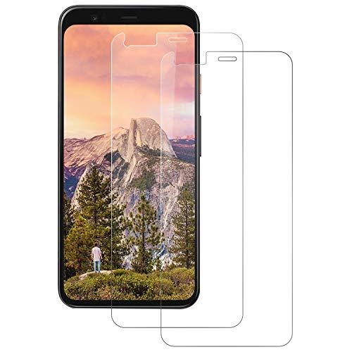 FayTun Panzerglas Schutzfolie für Google Pixel 4, [2 Stück], 9H Härte, HD Pixel 4 Panzerglasfolie, Kratzfest, Anti-Bläschen Und Fingerabdruck, Displayschutz Folie für Google Pixel 4