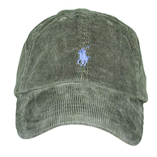 POLO RALPH LAUREN Men - Green ribbed twill cotton baseball cap