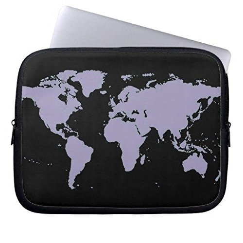 Elettronica Borsa in neoprene Laptop maniche 160602 - 5 Map of the World Planispheres 13-13.8 inches