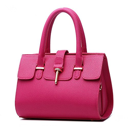 HQYSS Borse donna Marea distaccato atmosferica Fashion PU Leather Ms borsa tracolla Messenger , treasure blue rose red