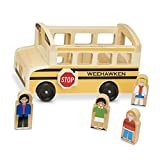 Melissa &Doug Personalized School Bus Wooden Play Set with 7 Figures Toy