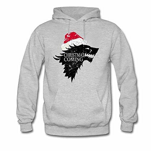 Christmas is Coming Direwolf Logo Women's Hooded Sweatshirt XL