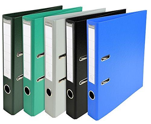 Exacompta 53054E Premium Kunststoff-Ordner (PVC, 2 Ringe, Rücken 50 mm, DIN A4) 10 Stück Farbkombination - 2