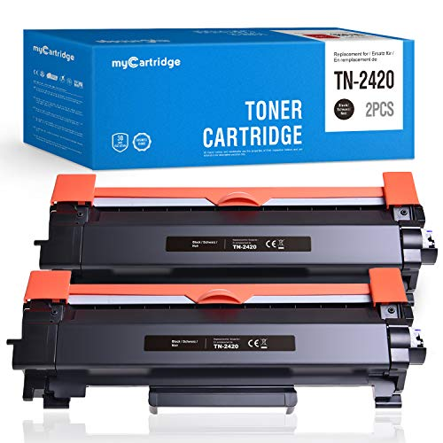 Mycartridge 2 Compatibile Brother TN 2420 TN-2420 cartuccia del toner per Brother HL-L2350DW MFC-L2710DW MFC-L2710DN MFC-L2750DW DCP-L2510D (con chip)
