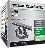 Rameder Komplettsatz, Anhängerkupplung abnehmbar + 13pol Elektrik für VW Polo (145506-04804-3)